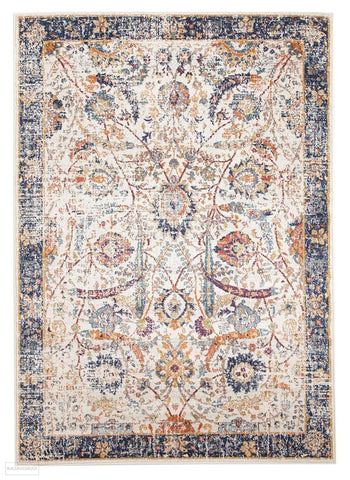 Evoke Peacock Ivory Transitional Rug - 230x160cm