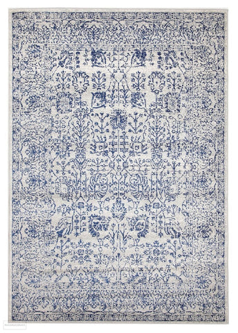 Evoke Frost Blue Transitional Rug - 230x160cm