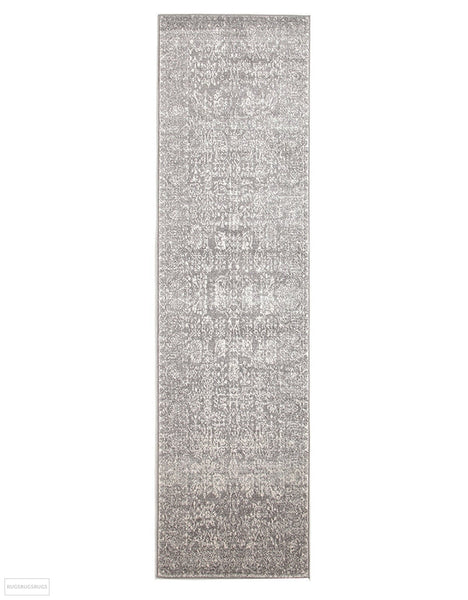 Evoke Homage Grey Transitional Rug - 300x80cm
