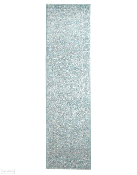 Evoke Depth Blue Transitional Rug - 300x80cm