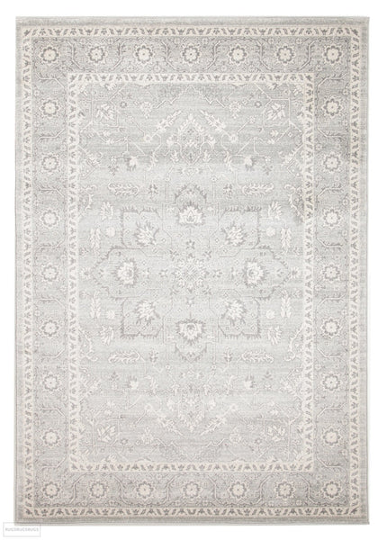 Evoke Silver Flower Transitional Rug - 230x160cm