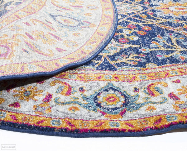 Evoke Splash Multi Transitional Round Rug