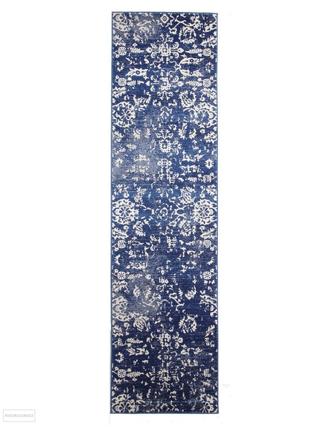 Evoke Donna Navy Transitional Rug - 300x80cm