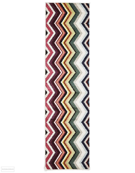 Gemini Modern 504 Multi Coloured Rug - 300x80cm