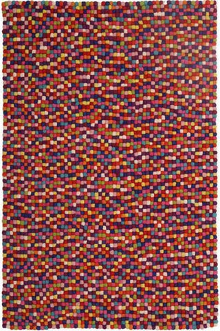 Gumball Felted Wool Unique Textured Ball Design Multi Rug - Cheapest Rugs Online - 1