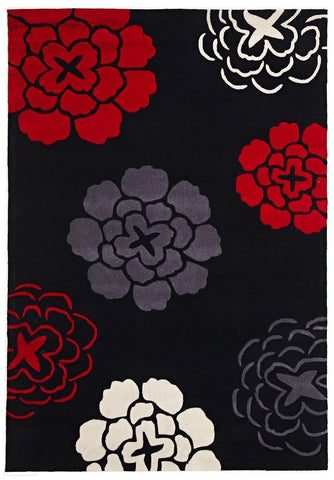 Gold Collection 615 Black Rug
