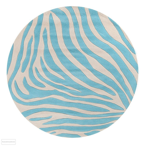 Gold Collection 621 Blue Round Rug