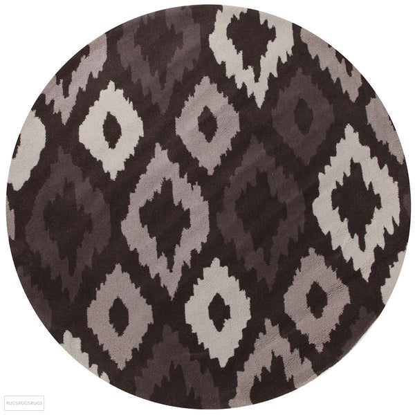 Gold Collection 627 Brown Round Rug
