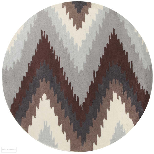 Gold Collection 630 Brown Round Rug