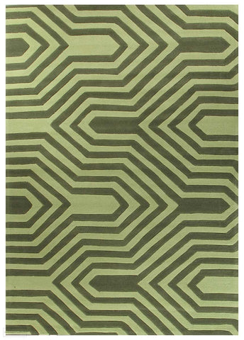 Gold Collection 631 Green Rug