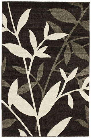 Icon Stunning Spring Leaf Rug Dark Brown - 170x120cm