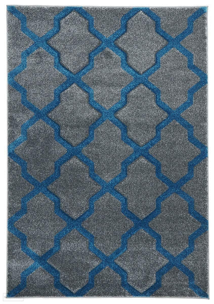 Icon Cross Hatch Modern Rug Grey - 170x120cm