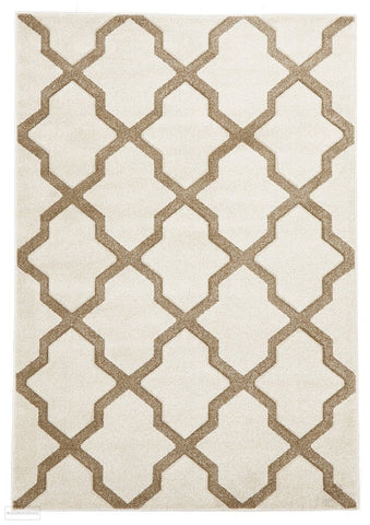 Icon Cross Hatch Modern Rug Natural - 170x120cm