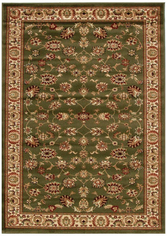 Istanbul Collection Traditional Floral Pattern Green Rug - 170x120cm