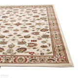 Istanbul Collection Traditional Floral Pattern Ivory Rug