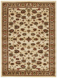 Istanbul Collection Traditional Floral Pattern Ivory Rug - 170x120cm