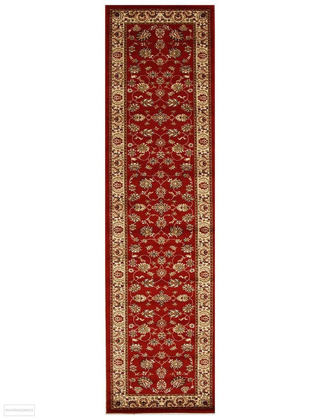 Istanbul Collection Traditional Floral Pattern Red Rug - 300x80cm