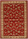 Istanbul Collection Traditional Floral Pattern Red Rug - 170x120cm