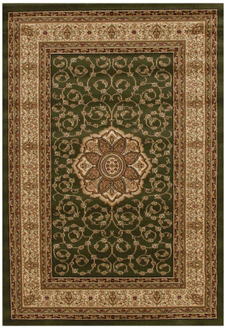 Istanbul Collection Medallion Classic Pattern Green Rug - 170x120cm