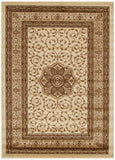Istanbul Collection Medallion Classic Pattern Ivory Rug - 170x120cm