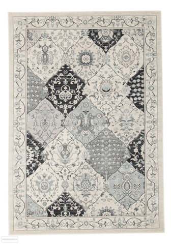 Jewel Panel Design 802 Blue Navy Bone Rug - 230x160cm