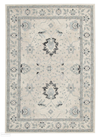 Jewel Nain Design 804 Bone Blue Navy Rug - 230x160cm