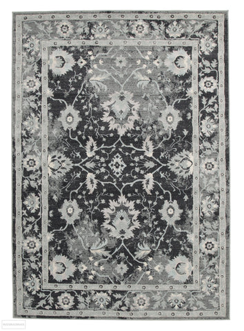 Jewel Nain Design 804 Navy Blue Grey Rug - 230x160cm