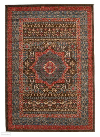 Jewel Antique Heriz Design 805 Brown Red Blue Rug - 230x160cm