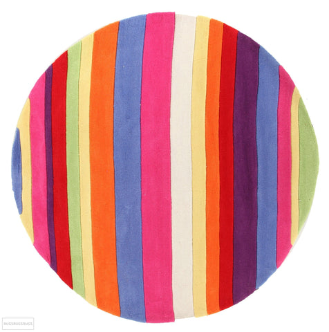 Candy Stripe Round Rug - Kids