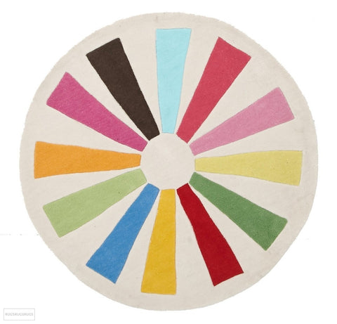 Multi Wheeled Kids Round Rug - Kids