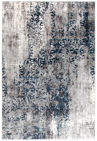 Kendra Casper Distressed Modern Rug Blue Grey White - 230X160cm