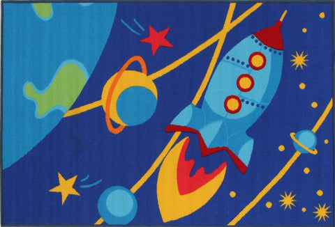 Kids Non Slip Outer Space Rug - Kids