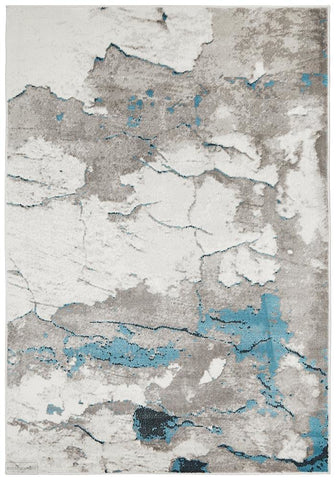 Zoey Contemporary Rug Blue Grey - Modern