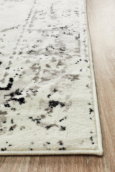Alexa Transitional Rug White Grey Black - Modern
