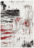 Lydia Abstract Rug Red Black White Grey - Modern