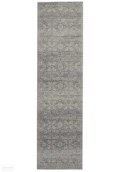 Mirage Gwyneth Stunning Transitional Silver Rug - 300x80cm