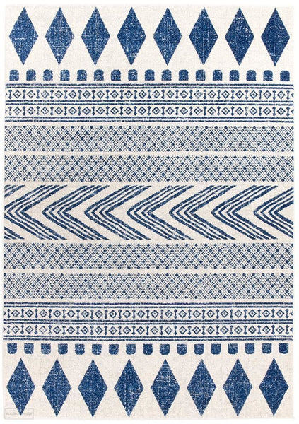Mirage Adani Modern Tribal Design Navy Rug - 230x160cm