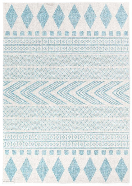 Mirage Adani Modern Tribal Design sky Blue Rug - 230x160cm