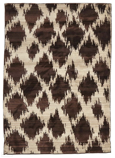 Moroccon Style Diamond Design Chocolate Rug