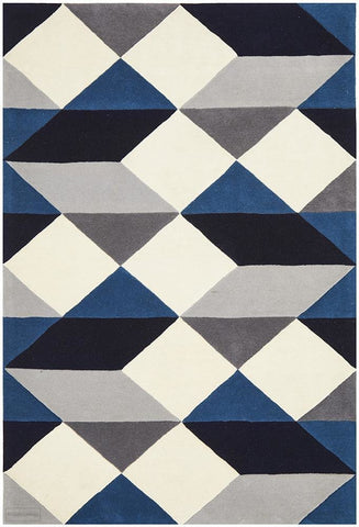 Matrix Pure Wool 904 Steel Rug - 225X155cm