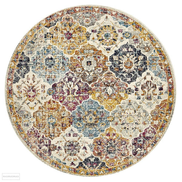 Museum Ainsley Round Rust Rug - 150X150cm
