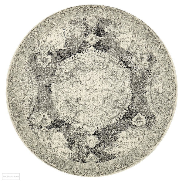 Museum Beverly Charcoal Round Rug - 150X150cm