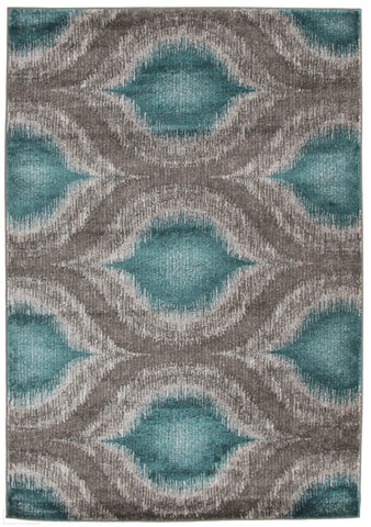 Nitro Lucid Dream Modern Rug Blue