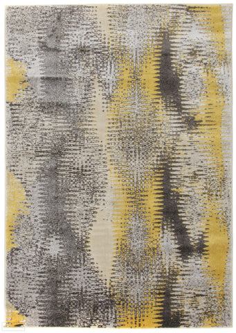 Nitro Hannah Matrix Rug Yellow Grey