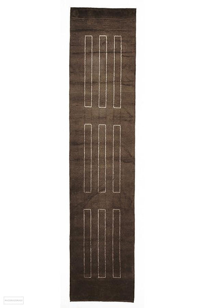 NN Hand Knotted Modern Wool Rug Brown - 150X80cm