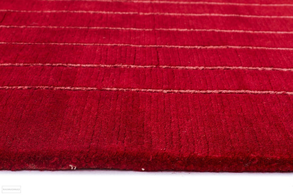Hand Woven Spark Modern Wool Rug Red