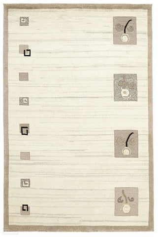 Modern Tribal Woven Rug Natural Grey - 230X160cm