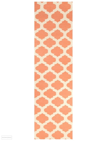 Nomad Pure Wool Flatweave 15 Coral Ivory Rug - DISCONTINUED