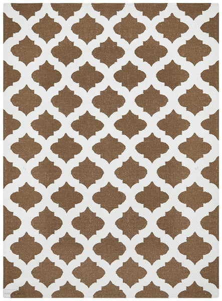 Nomad Pure Wool Flatweave 15 Brown Ivory Rug - DISCONTINUED