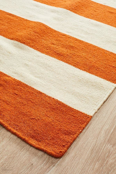 Nomad Pure Wool Flatweave 16 Orange Rug - DISCONTINUED